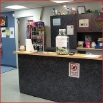 Check in or purchase products at our Reception Desk.